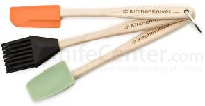 KitchenKnives.com Spatula, Spoon & Basting Brush 3 Piece Set