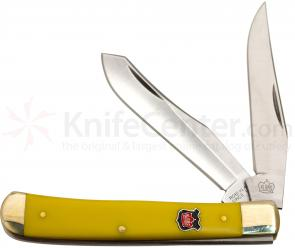 Robert Klaas Yellow Acrylic Trapper, 4.1 inch Closed