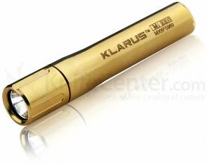 Klarus MiX6 AU Midas Torch LED AAA Flashlight, Gold Body, 85 Max Lumens