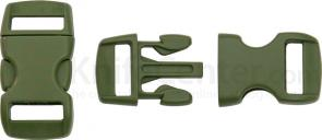 Knotty Boys Olive Drab Bracelet Buckles, 50-Pack