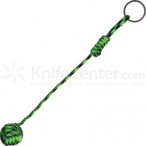 Knotty Boys Zombie Green Monkey Fist Lanyard with Keyring