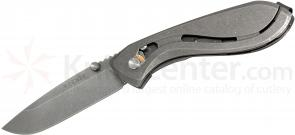 Koenig Knives Zenaida Folding 2.75 inch S35VN Plain Blade, Titanium Handles, Screwless Design