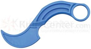 Krudo Knives SNAG Trainer 3 inch Unsharpened Blade, Blue Polymer Construction