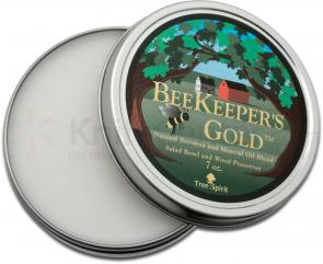 LamsonSharp TreeSpirit Bee's Oil, Natural Beeswax and Mineral Oil Blend - 7 oz. tub