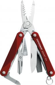 Leatherman Squirt ES4 Keychain Electrician's Mini Multi-Tool, Red Aluminum Handles