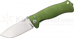 LionSteel SR-1A GS Folding 3.7 inch Satin D2 Steel Blade, Green Aluminum Handle