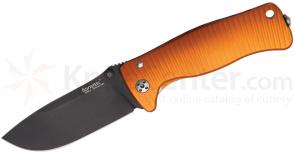 LionSteel SR-2A OB Folding 3.07 inch Black Sleipner Steel Blade, Orange Aluminum Handle