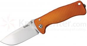 LionSteel SR-2A OS Folding 3.07 inch Satin Sleipner Steel Blade, Orange Aluminum Handle