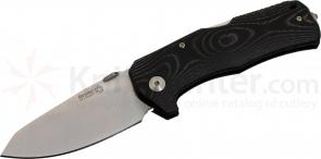 LionSteel TM1 MS Folding 3.54 inch Satin Sleipner Steel Blade, One Piece Micarta Handle