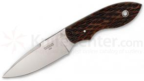 Lone Wolf Knives Steve Kelly Trailmate Fixed 3.5 inch Blade, Jigged Brown Bone Handles