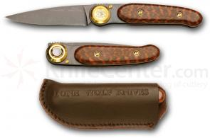Lone Wolf Paul® Executive Gentlemans Folder 2.5 inch Blade, Black Ti Snake Wood Handles