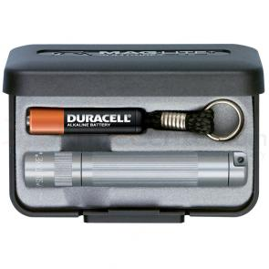Maglite Solitaire Flashlight Gift Box - Gray Body