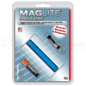 Maglite Solitaire Flashlight - Blue Body
