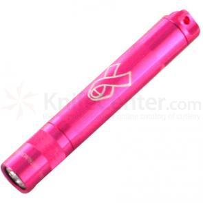 Maglite National Breast Cancer Solitare Flashlight in Gift Box - Pink Body