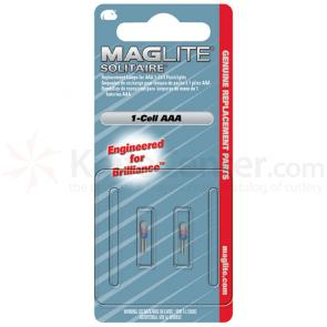 Maglite Solitaire Flashlight Bulb, 2 Pack