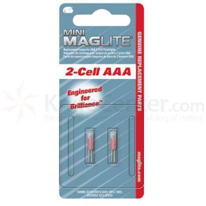 Maglite Mini Maglite AAA  Replacement Lamps, 2 Pack