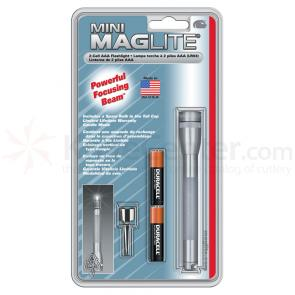 Maglite Minimag AAA Flashlight - Gray Body