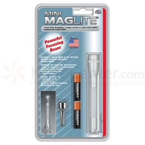 Maglite Minimag AAA Flashlight - Silver Body