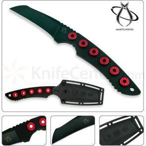 Mantis MF-2 Slimline II Rescue Knife Fixed 3 inch Otnat (Tanto) Blade, Custom Sheath