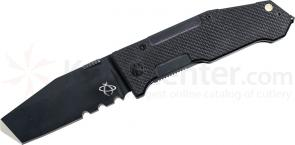 Mantis MT7.2 AS Folding Pry Knife 3-1/4 inch Black S30V Combo, Blade Besh Wedge Tip, G10 Handles