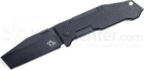 Mantis MT7.2 A Folding Pry Knife 3-1/4 inch Black S30V Plain Blade, Besh Wedge Tip, G10 Handles