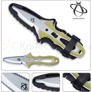 Mantis MU-1 Mako Dive Knife 3 inch Blade, Yellow Rubber Handles