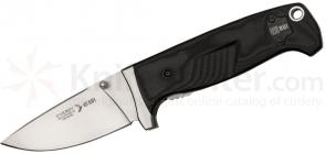 RUI Energy Series Linerlock Folding 3.375 inch Satin Plain Blade, Black G10 Handles