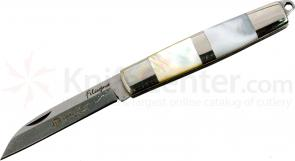 Maserin Filiscjina Line Classic Folding 1.97 inch Plain Wharncliffe Blade, Mother of Pearl Scales