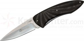 Maserin 383/EB Fly Folding Knife 3-3/8 inch S35VN Blade, Ebony Wood Handles