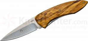 Maserin 383/OL Fly Folding Knife 3-3/8 inch S35VN Blade, Olive Wood Handles