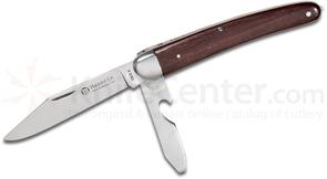Maserin 98/2 Maniaghese Classic Single Blade Trapper with Can Opener, 4.25 inch Rosewood Handles
