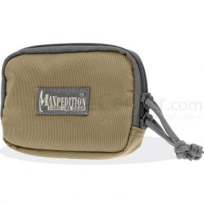 Maxpedition 3526KF Hook-&-Loop 3 inch x 5 inch Zipper Pocket, Khaki-Foliage