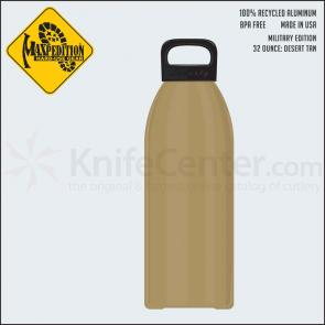 Maxpedition LB32MILT 32oz Water Bottle  inchMILITARY inch, Desert Tan