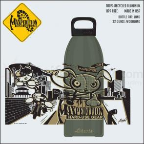 Maxpedition LB32LANDW 32oz Water Bottle  inchLAND inch, Woodland