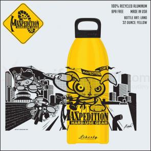 Maxpedition LB32LANDY 32oz Water Bottle  inchLAND inch, Yellow