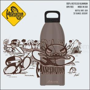 Maxpedition LB32SEAD 32oz Water Bottle  inchSEA inch, Desert Tan