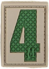 Maxpedition PVC Number 4 Patch, Arid