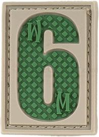 Maxpedition PVC Number 6 or 9 Patch, Arid