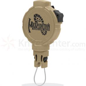 Maxpedition RL3K Tactical Gear Retractor, Large, Clip, Khaki