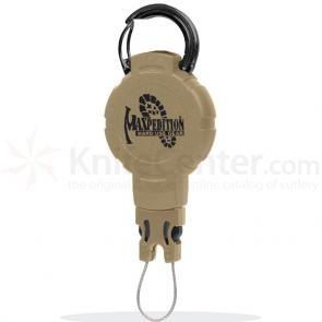 Maxpedition RM1K Tactical Gear Retractor, Medium, Snap Ring, Khaki