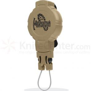 Maxpedition RM3K Tactical Gear Retractor, Medium, Clip, Khaki