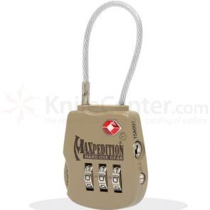 Maxpedition TSALOCK Tactical Travel Luggage Lock, Khaki