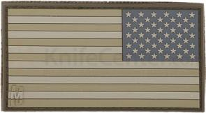 Maxpedition PVC Small Reverse USA Flag Patch, Arid