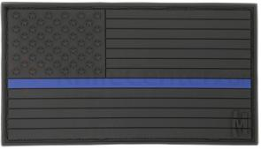 Maxpedition PVC Large USA Flag Patch, Law Enforecement Thin Blue Line