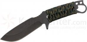 Medford 1911 Bowie Fixed 5-1/4 inch S35VN Black Plain Blade, Woodland Camo Handle, Coyote Kydex Sheath