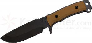 Medford FM1 Field Master Fixed 4-1/2 inch Black D2 Plain Blade, Coyote Brown G10 Handle, Coyote Kydex Sheath