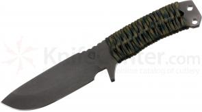 Medford FM1 Field Master Fixed 4-1/2 inch Black D2 Plain Blade, Woodland Camo Handle, Coyote Kydex Sheath