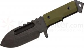 Medford Sea Wolf Tactical Fixed 4-1/4 inch D2 Plain Blade, OD Green G10 Handle, OD Kydex Sheath