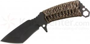 Medford TS1 Tactical Service Sniper Fixed 4-1/4 inch Black D2 Plain Blade, Desert Camo Handle, Coyote Kydex Sheath