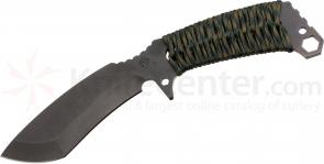 Medford TS2 Tactical Service Sniper Fixed 5-1/5 inch Black D2 Plain Blade, Woodland Camo Handle, Camo Kydex Sheath